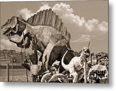 Metal Dinosaurs - 02 Metal Print by Gregory Dyer