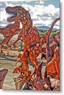 Metal Dinosaurs - 03 Metal Print by Gregory Dyer