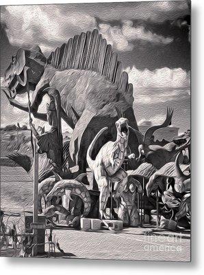 Metal Dinosaurs - 06 Metal Print by Gregory Dyer
