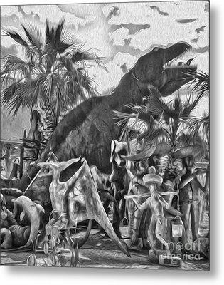 Metal Dinosaurs - 07 Metal Print by Gregory Dyer