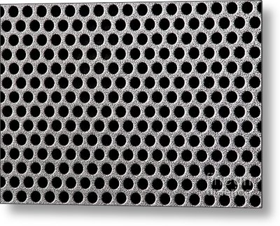 Metal Grill Dot Pattern Metal Print by Simon Bratt Photography LRPS