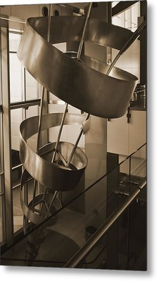 Metal Print featuring the sculpture Metal Structure by Debra Crank