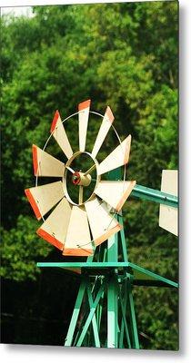 Metal Windmill Metal Print by Christopher Hoffman