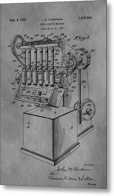 Metal Working Machine Metal Print