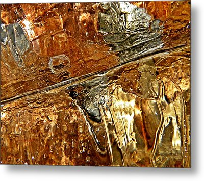 Metallic Ice Metal Print by Chris Berry