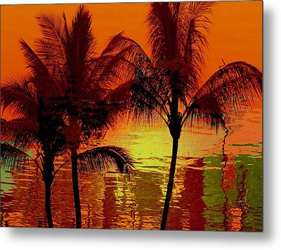 Metallic Sunset Metal Print by Athala Carole Bruckner