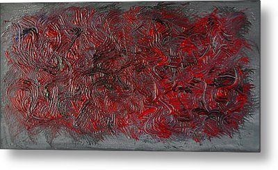 Metallic Warrior Palette Painting-sold-  Metal Print by Renee Anderson