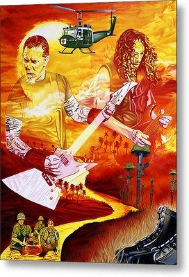 Metallica-one Metal Print by Joshua Morton