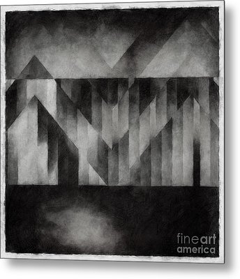 Metaphysical Sketch 2 Metal Print by Lonnie Christopher