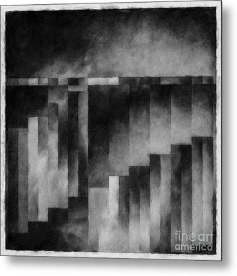 Metaphysical Sketch 3 Metal Print by Lonnie Christopher