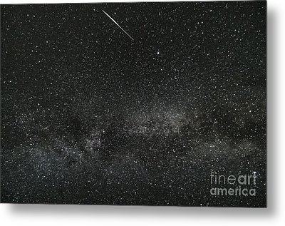 Meteor With The Milky Way Metal Print by Patrick Fennell