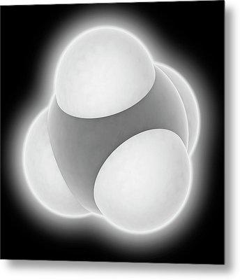 Methane Molecule Metal Print by Laguna Design
