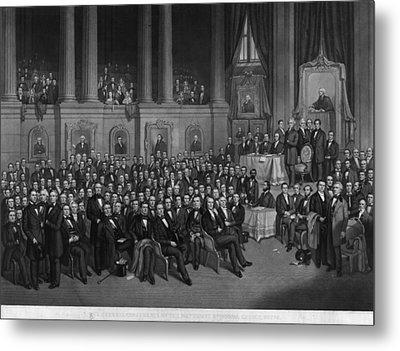 Methodist Conference, 1858 Metal Print by Granger