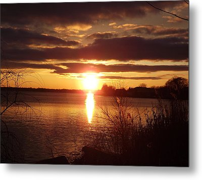 Metal Print featuring the photograph Metro Beach Sunset by Bill Woodstock