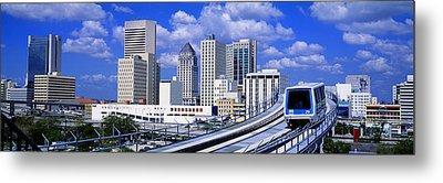 Metro Mover Shuttle Miami, Florida, Usa Metal Print
