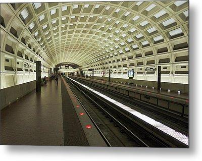 Metro Station In Suburban Washington, D Metal Print