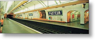 Metro Station, Paris, France Metal Print