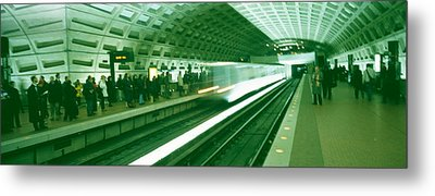 Metro Station Washington Dc Usa Metal Print