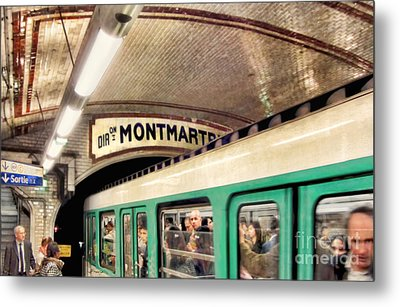 Metal Print featuring the photograph Metro To Montmartre. Paris   by Jennie Breeze