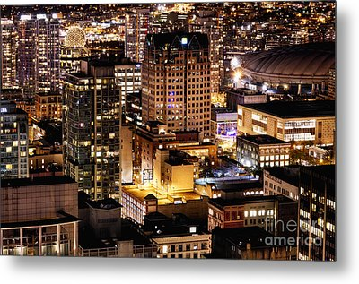 Metal Print featuring the photograph Metropolis Vancouver Mdccxv  by Amyn Nasser