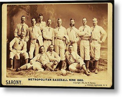 Metropolitan Baseball Nine Team In 1882 Metal Print by Bill Cannon