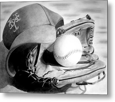 Mets Metal Print by Jennifer Wartsky
