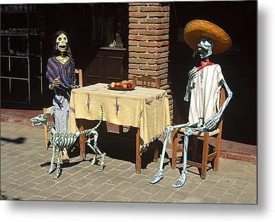 Mexican Antique Family Metal Print by Roderick Bley