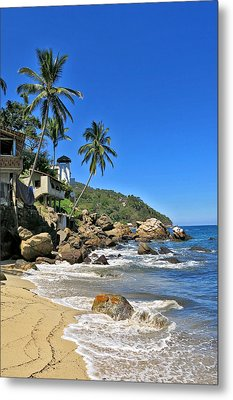 Mexican Beach Town Metal Print by Douglas Simonson