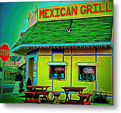 Mexican Grill Metal Print by Chris Berry