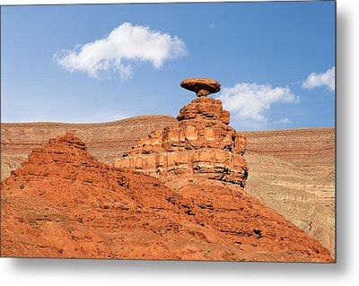 Mexican Hat Rock Metal Print by Christine Till