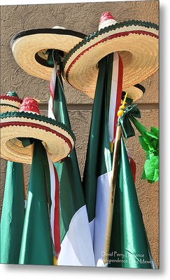 Metal Print featuring the photograph Mexican Independence Day - Photograph By David Perry Lawrence by David Perry Lawrence