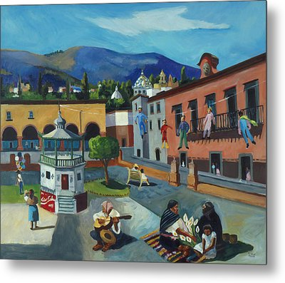 Mexican Memories Of San Miguel Metal Print by Linda Novick