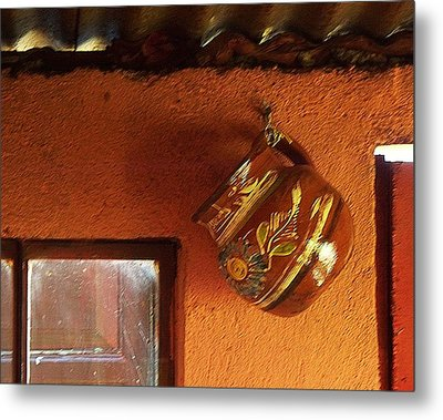 Metal Print featuring the photograph Mexican Pottery by Joy Nichols