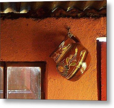 Mexican Pottery Metal Print by Joy Nichols