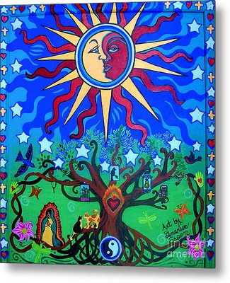 Mexican Retablos Prayer Board Small Metal Print by Genevieve Esson
