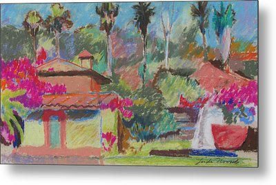 Metal Print featuring the painting Mexican Spa by Linda Novick