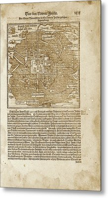Mexico City Metal Print by Library Of Congress, Geography And Map Division