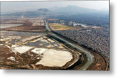 Mexico City Salt Marsh Metal Print by Daniel Sambraus