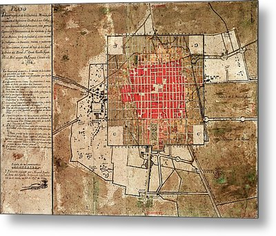 Mexico City Urban Development Metal Print by Library Of Congress