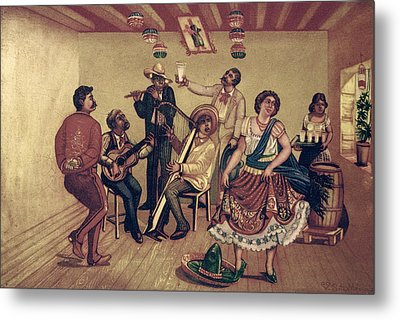Mexico: Hat Dance Metal Print by Granger