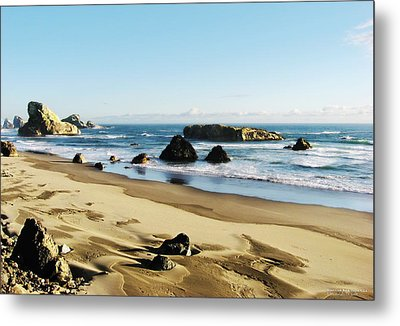 Meyers Creek Beach Oregon Metal Print by Rafael Escalios
