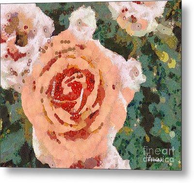Alameda Meyers House Garden Klimt Rose Metal Print