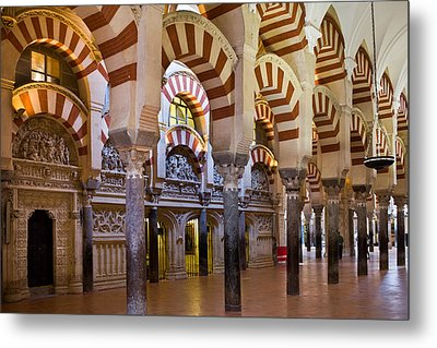 Mezquita Prayer Hall In Cordoba Metal Print by Artur Bogacki
