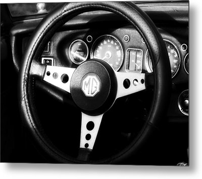 Mg Dashboard Metal Print by Denise Beverly