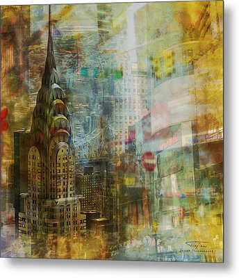 Mgl - City Collage - New York 04 Metal Print