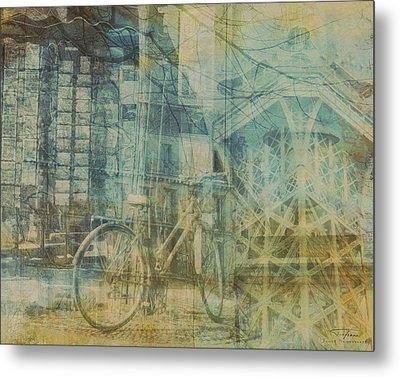 Mgl - City Collage - Paris 01 Metal Print by Joost Hogervorst