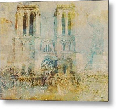 Mgl - City Collage - Paris 03 Metal Print by Joost Hogervorst