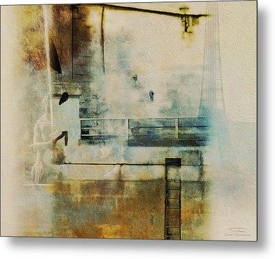Mgl - City Collage - Paris 05 Metal Print by Joost Hogervorst