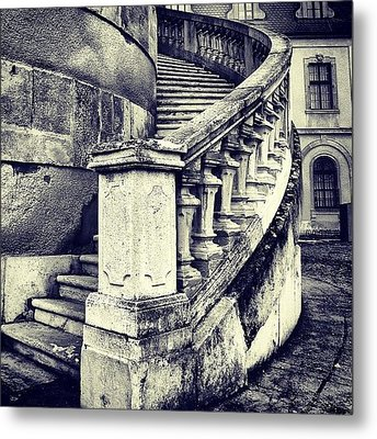 #mgmarts #architecture #castle #steps Metal Print by Marianna Mills