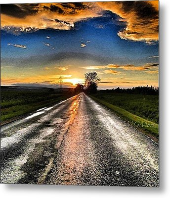 #mgmarts #driving #lonely #instamood Metal Print by Marianna Mills